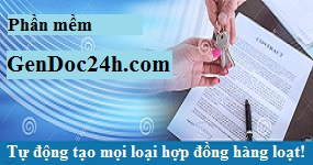 Phần mềm tự động tạo các kiểu hợp đồng hàng loạt